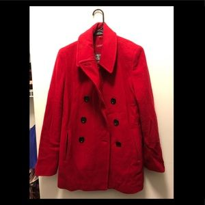Red Calvin Klein Winter Coat